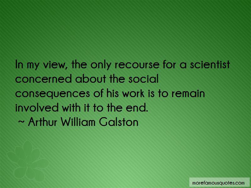 Arthur William Galston Quotes Pictures 2