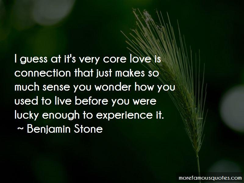 Benjamin Stone Quotes