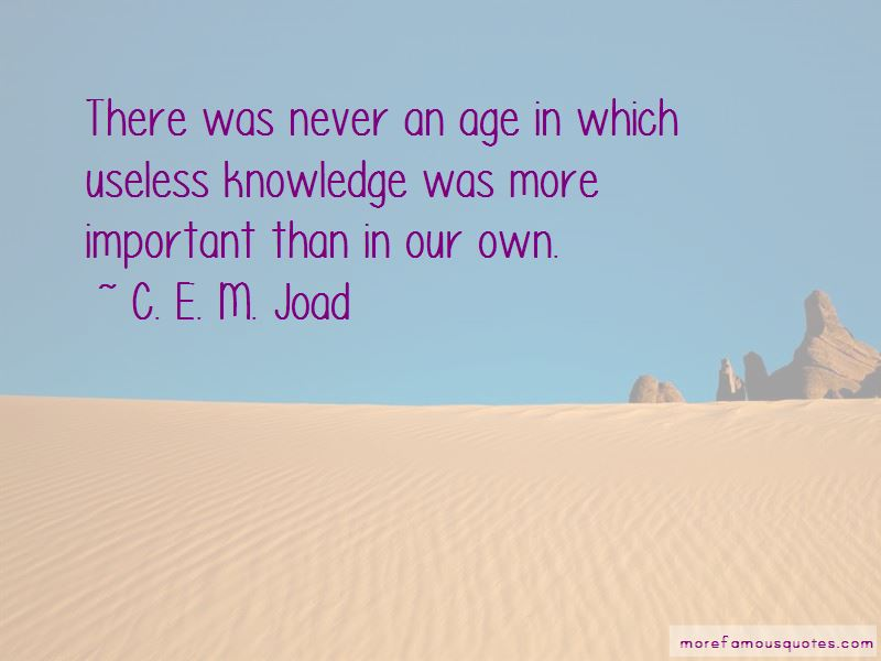 C. E. M. Joad Quotes Pictures 4