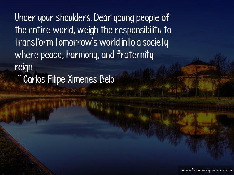 Carlos Filipe Ximenes Belo Quotes