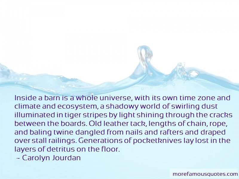 Carolyn Jourdan Quotes