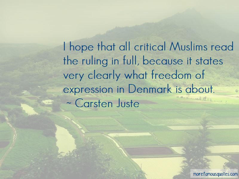 Carsten Juste Quotes Pictures 2