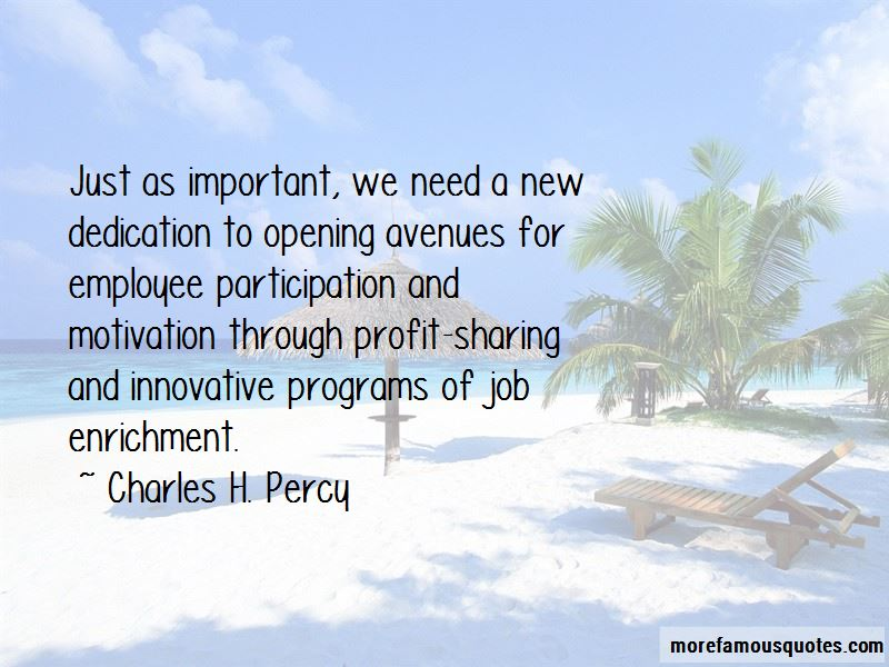 Charles H. Percy Quotes Pictures 4