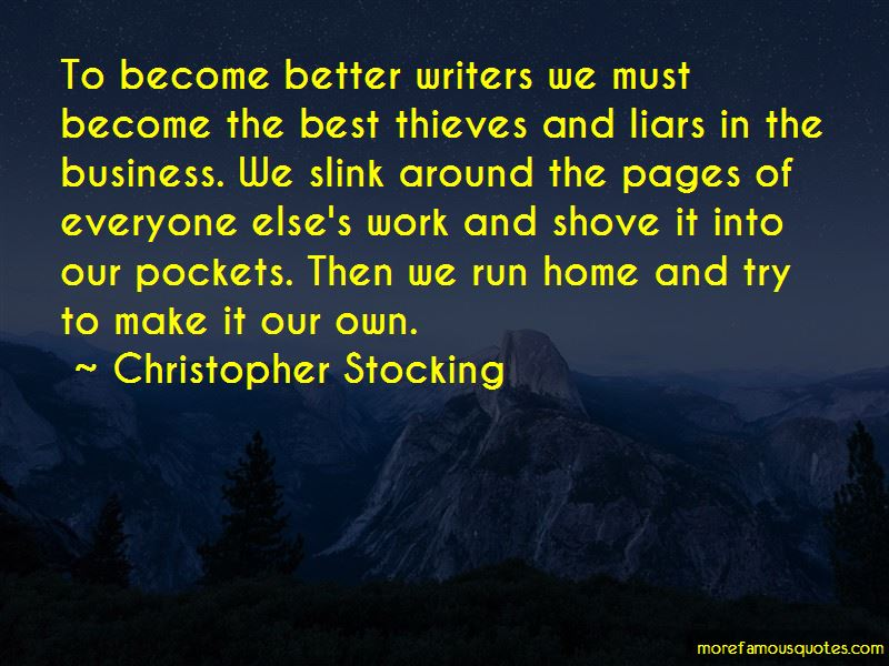 Christopher Stocking Quotes