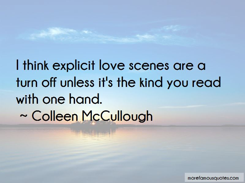 Colleen McCullough Quotes Pictures 3