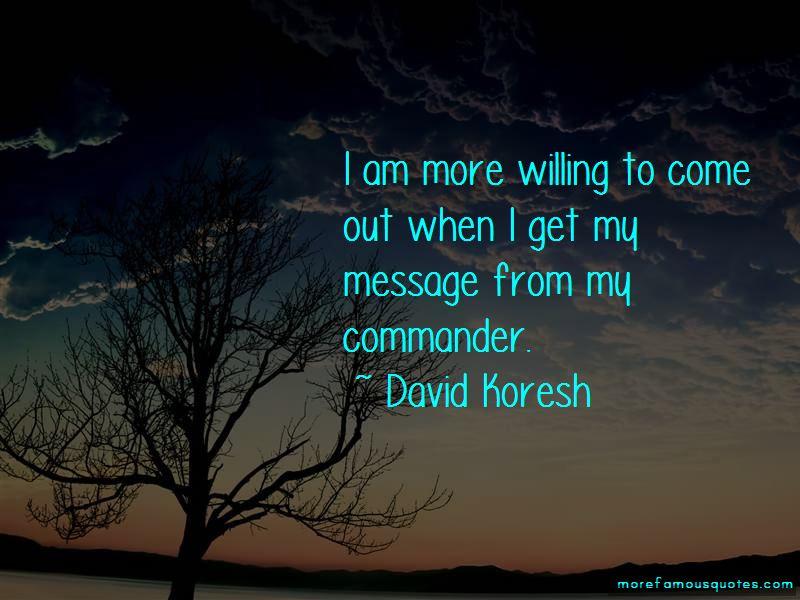 David Koresh Quotes