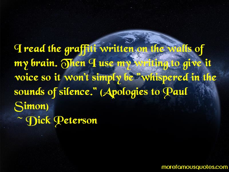 Dick Peterson Quotes Pictures 2