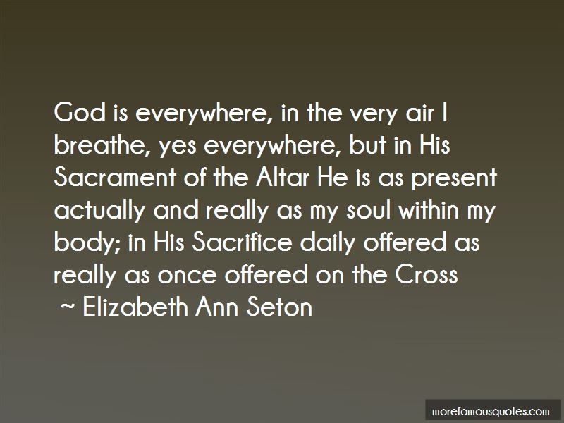 sacrament and elizabeth ann seton