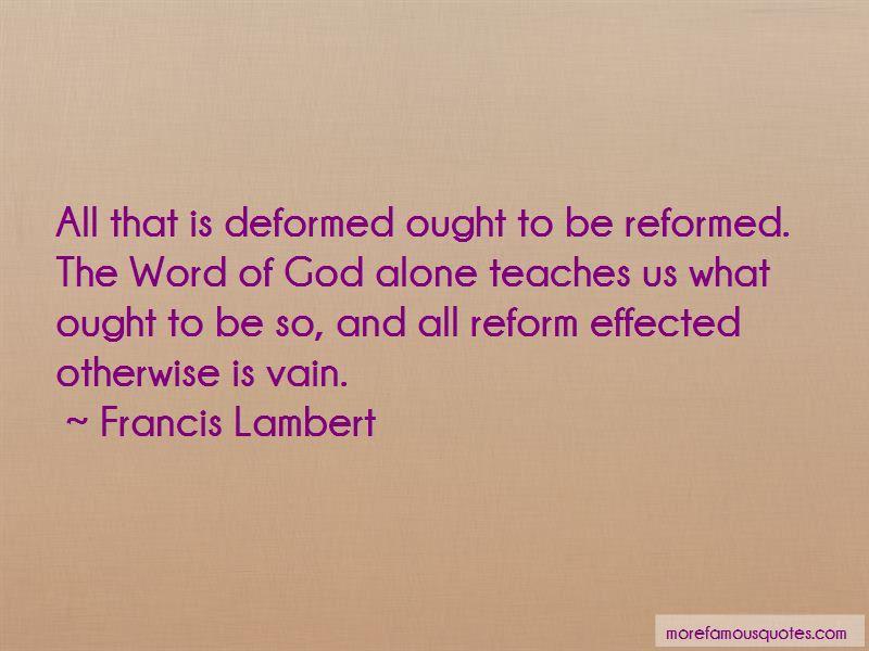 Francis Lambert Quotes