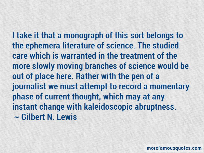 Gilbert N. Lewis Quotes