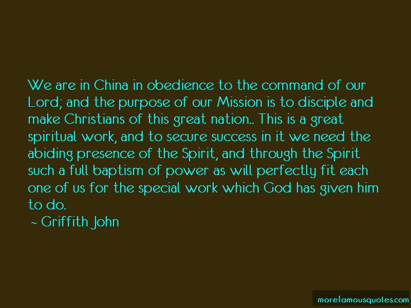 Griffith John Quotes