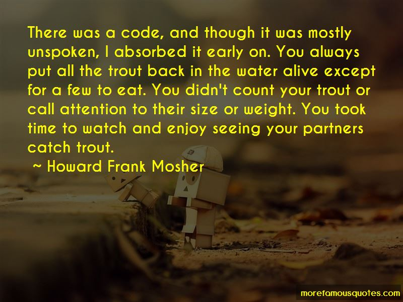Howard Frank Mosher Quotes Pictures 2