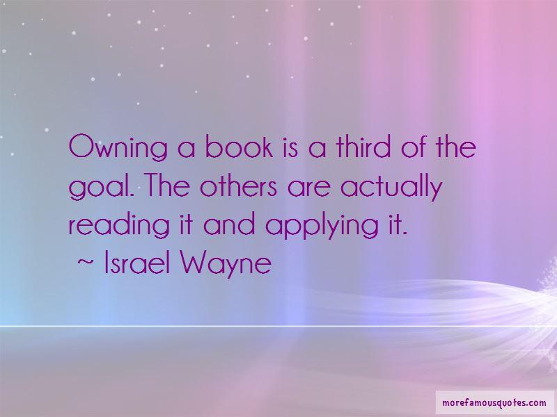 Israel Wayne Quotes
