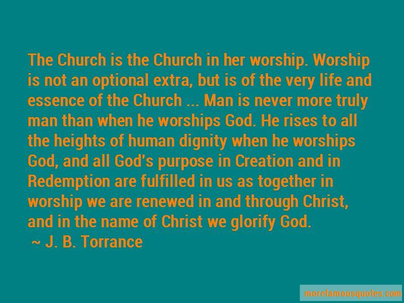 J. B. Torrance Quotes