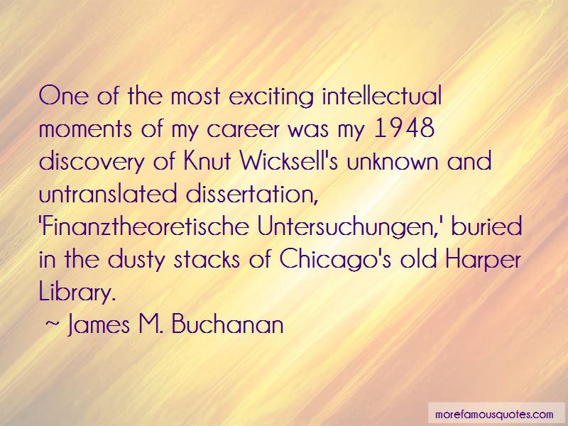 James M. Buchanan Quotes