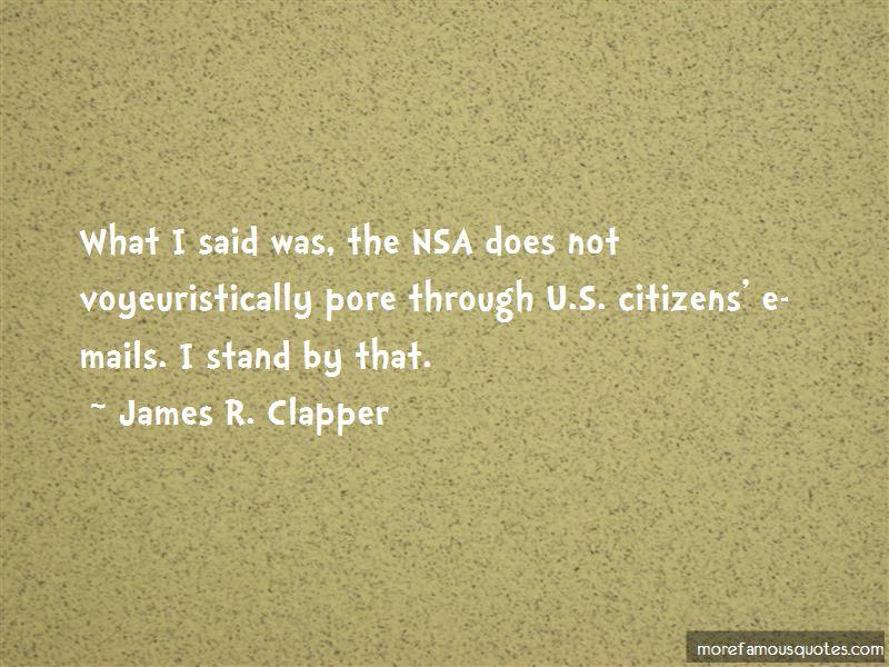 James R. Clapper Quotes