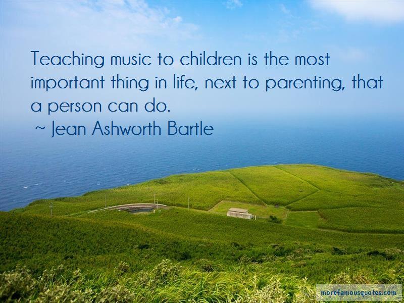 Jean Ashworth Bartle Quotes