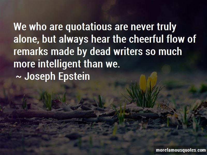 Joseph Epstein Quotes Pictures 2