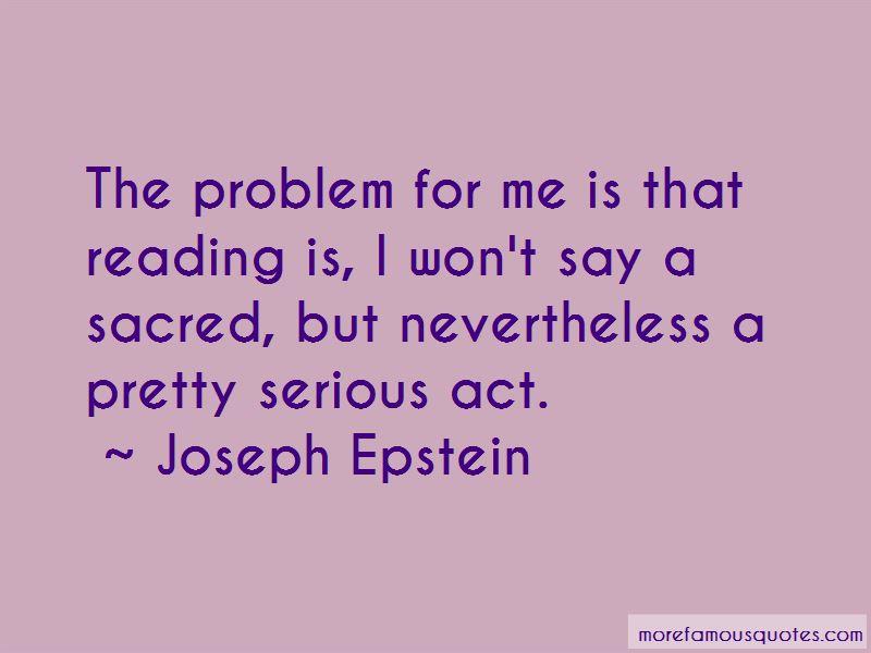 Joseph Epstein Quotes Pictures 3