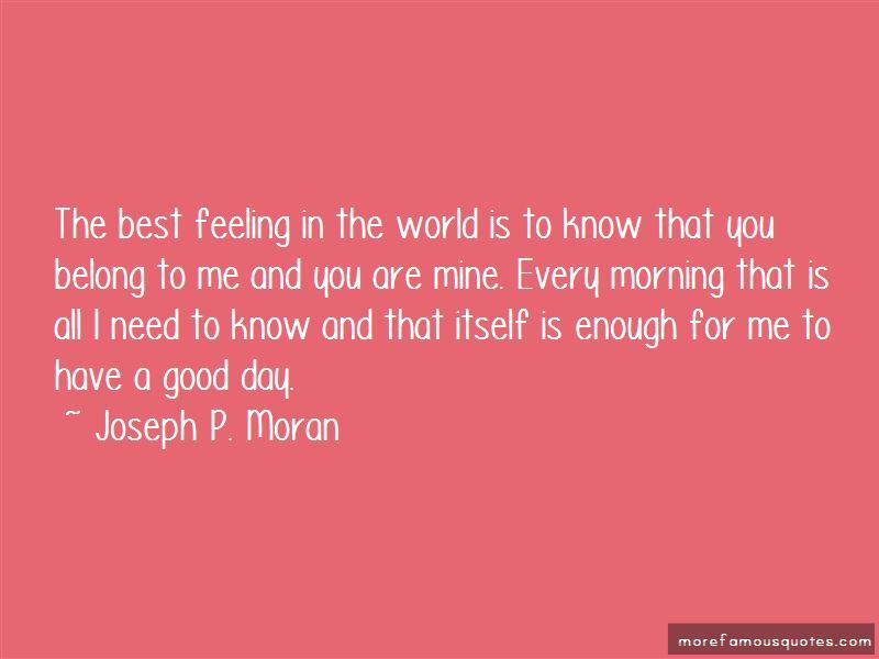 Joseph P. Moran Quotes