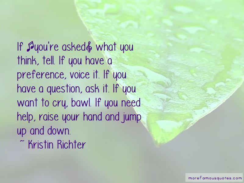 Kristin Richter Quotes