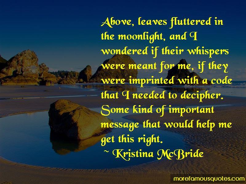 Kristina McBride Quotes