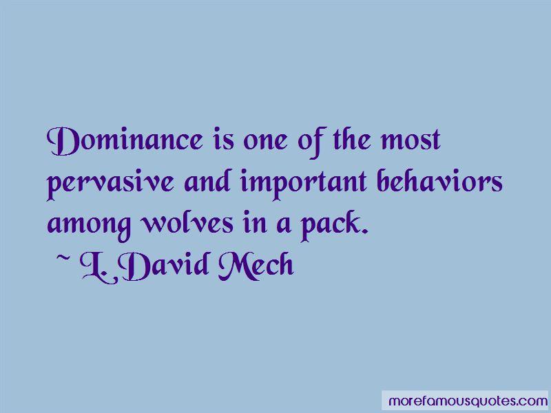 L. David Mech Quotes Pictures 3
