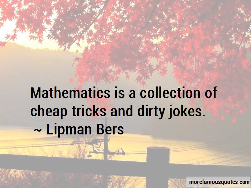 Lipman Bers Quotes Pictures 2