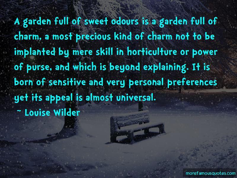 Louise Wilder Quotes