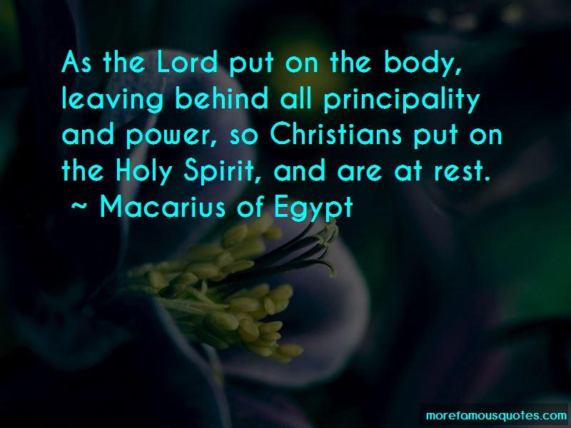 Macarius Of Egypt Quotes