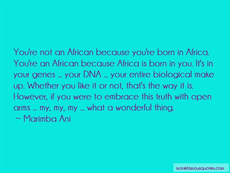 Marimba Ani Quotes