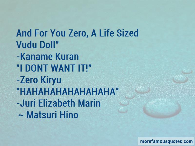 Matsuri Hino Quotes