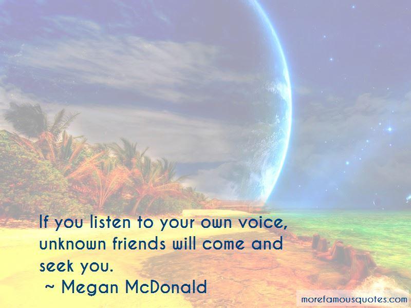 Megan McDonald Quotes