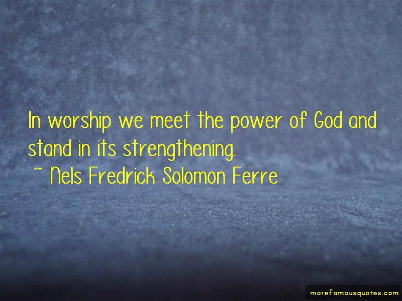 Nels Fredrick Solomon Ferre Quotes Pictures 2