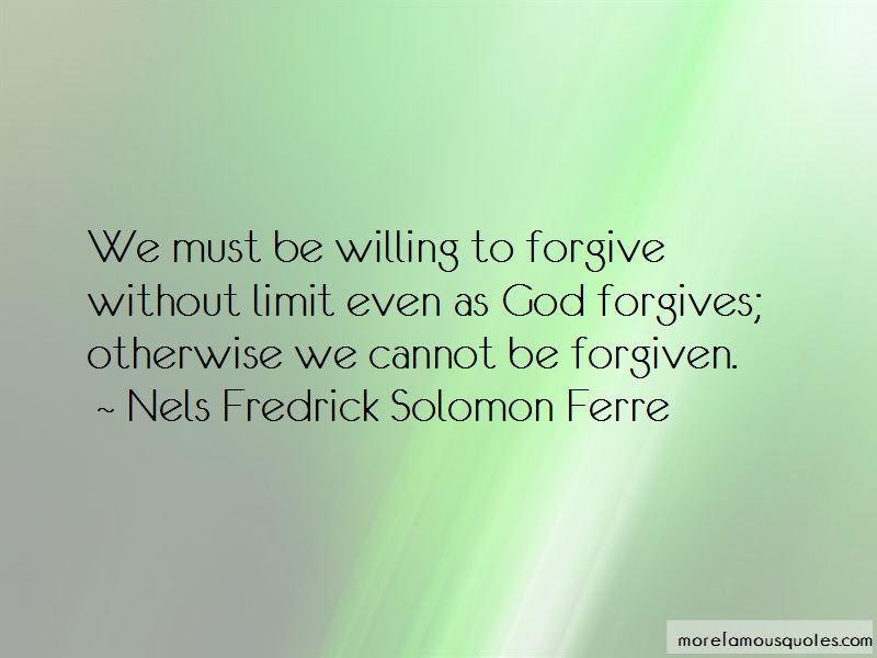 Nels Fredrick Solomon Ferre Quotes