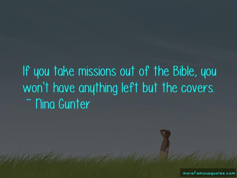 Nina Gunter Quotes