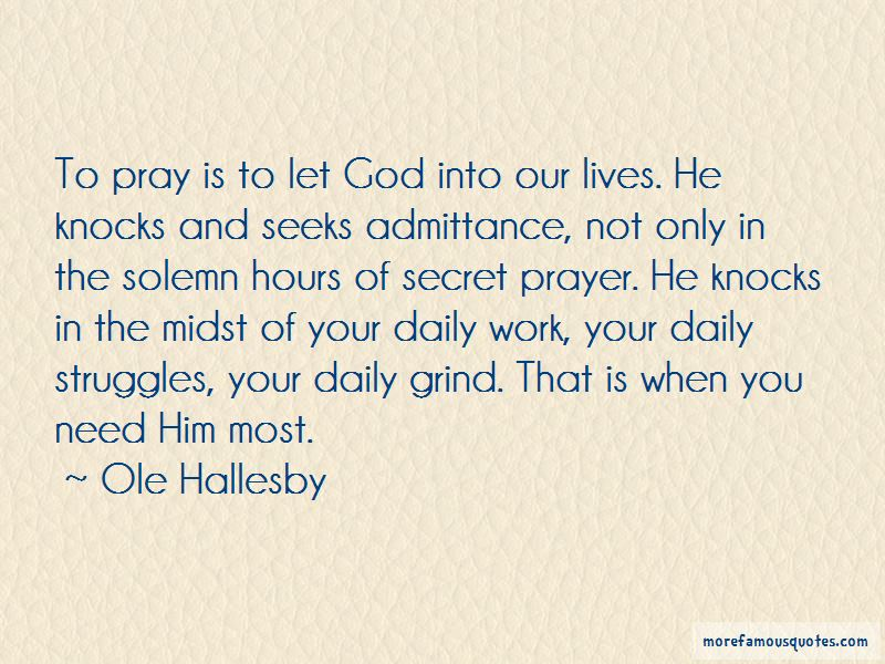 Ole Hallesby Quotes Pictures 3