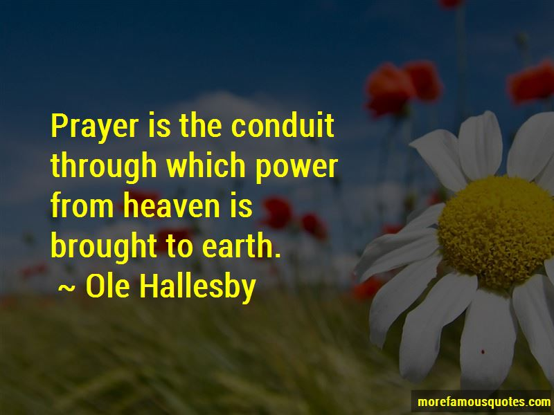Ole Hallesby Quotes