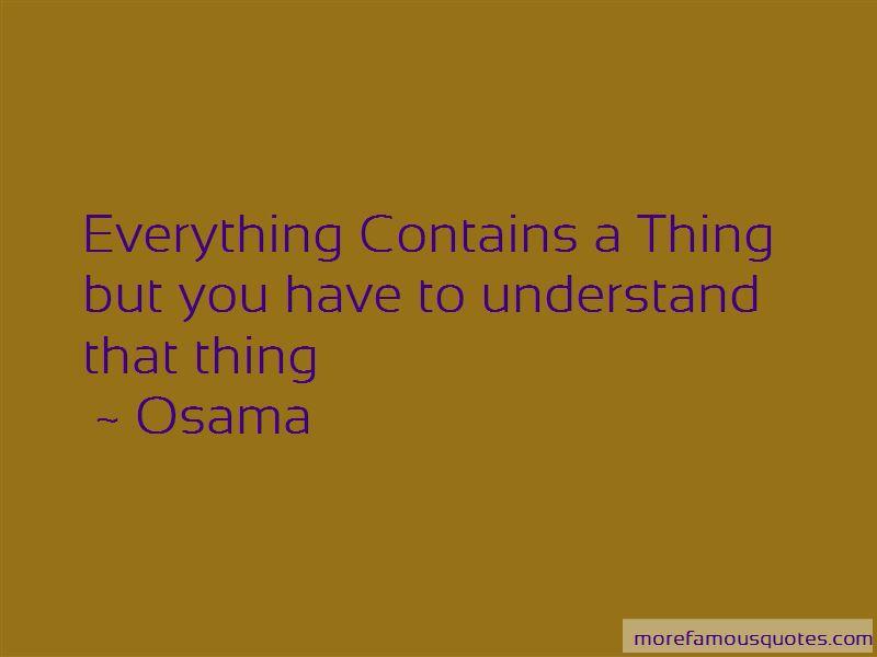 Osama Quotes