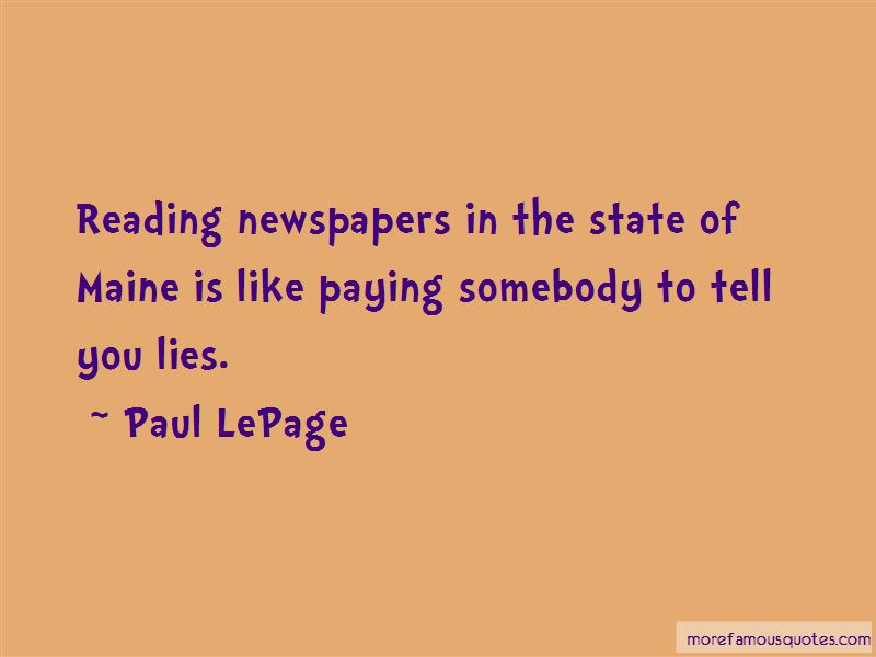 Paul LePage Quotes Pictures 4
