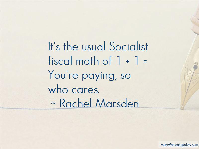 Rachel Marsden Quotes