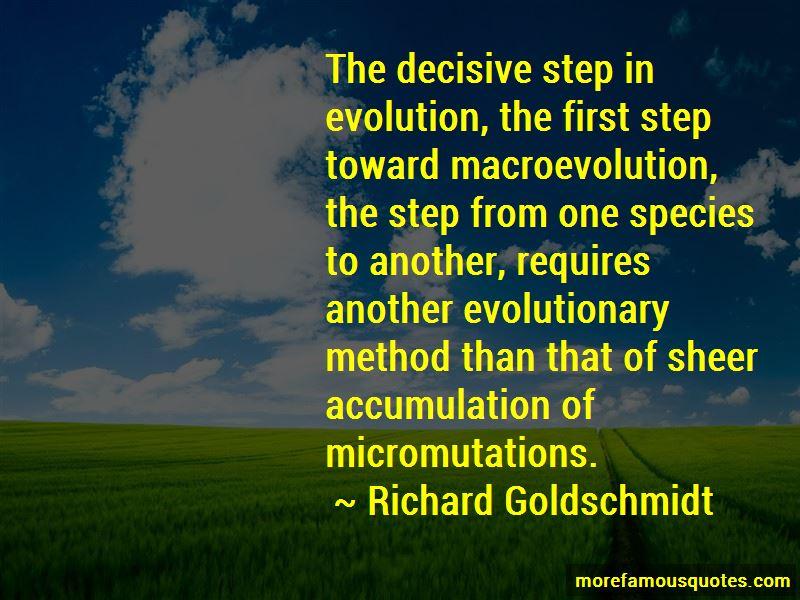 Richard Goldschmidt Quotes Pictures 2