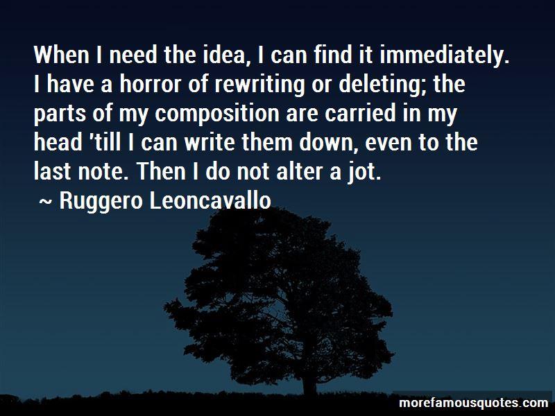 Ruggero Leoncavallo Quotes