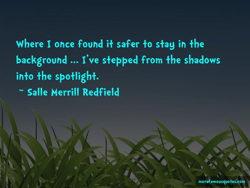 Salle Merrill Redfield Quotes Pictures 3