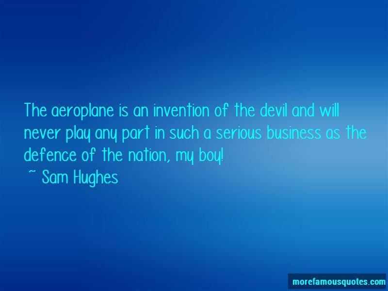 Sam Hughes Quotes
