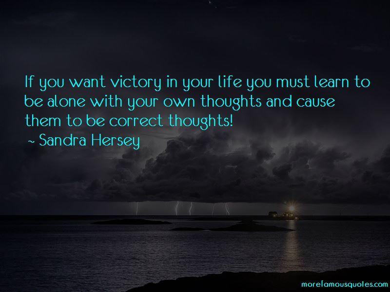 Sandra Hersey Quotes