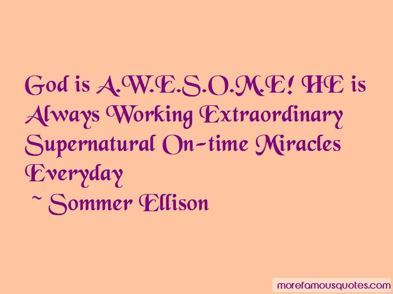 Sommer Ellison Quotes