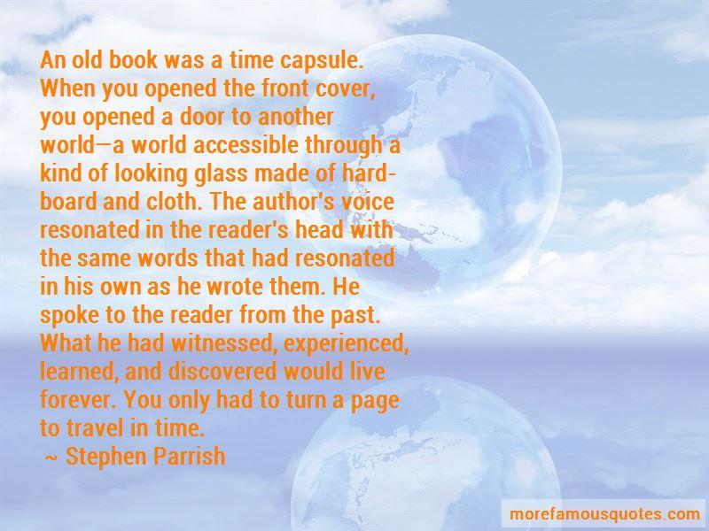 Stephen Parrish Quotes