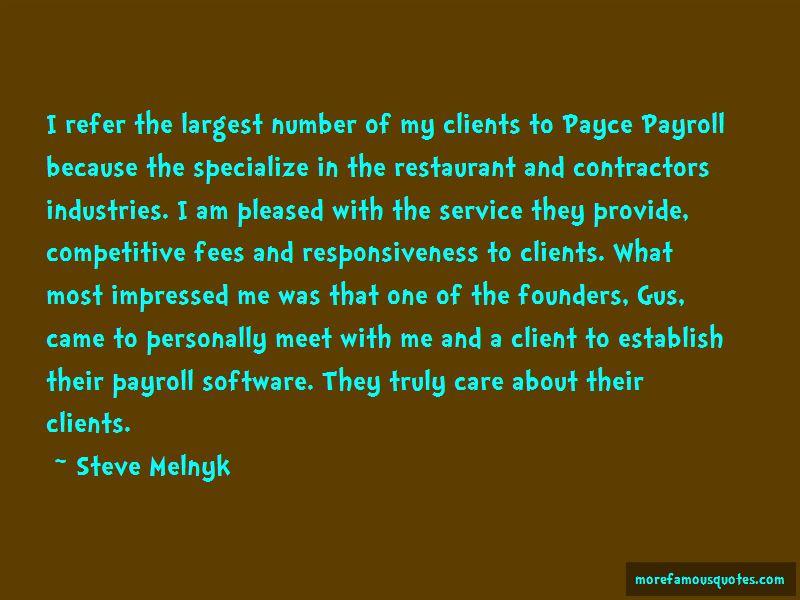 Steve Melnyk Quotes