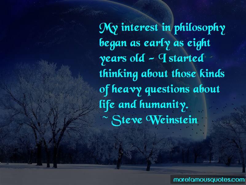 Steve Weinstein Quotes